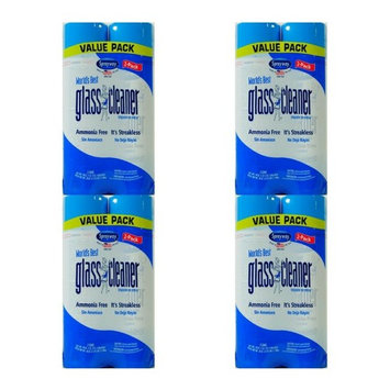 Sprayway Glass Cleaner Aerosol Spray, 19 oz ,.- 4 Packs