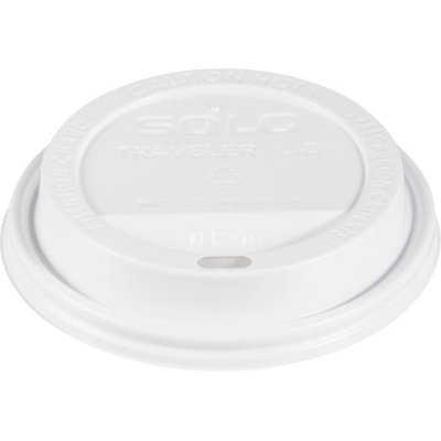 Solo Cup Company Solo Traveler Drink-Thru Lid, White, 1,000 cup lids