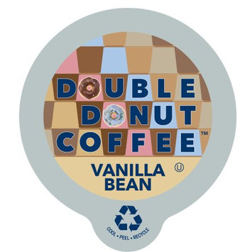 Double Donut Vanilla Bean Flavored Coffee, in Recyclable Single Serve Cups for Keurig K-Cup Brewers, 80 Count