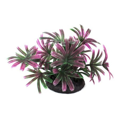 9cm Height Fuchsia Plastic Artificial Water Plant Grass for Fish Tank