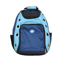 Outdoor Small Dog and Cat Carrier Backpack (Blue & Black)
