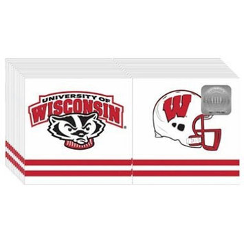 Wisconsin Badgers Napkins - 3 ply - 150 ct.