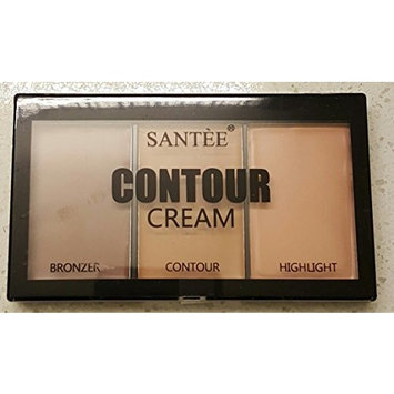 Santee Cream Contour Palette - Contour and Highlight Makeup Palette 2