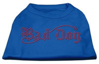 Ahi Bad Dog Rhinestone Shirts Blue XL (16)
