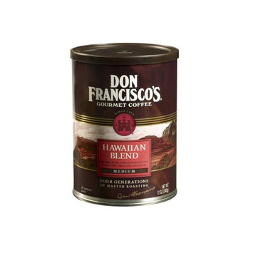 F. Gavi A & Sons, Inc. Don Francisco's Hawaiian Blend, Medium Roast, Ground Coffee, 12 oz. (Pack of 6)