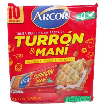 Arcor Turron & Mani 10 Wafers!