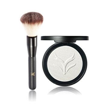 Mandystore 2PC Powder Brush,100g Makeup Ultimate Highlight Face Powder Form Contour