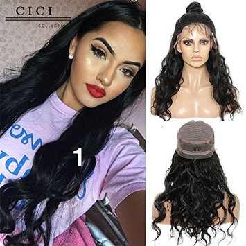 Dolago 360 Lace Frontal Wig Body Wave for Black Women, Glueless 180% Density Lace Front Wigs Human Hair, Premium Brazilian Virgin Hair Full Lace Wig Bleached Knots Pre Plucked with Baby Hair 18Inch