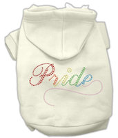 Mirage Pet Products 5465 SMCR Rainbow Colored Pride Hoodies Cream S 10