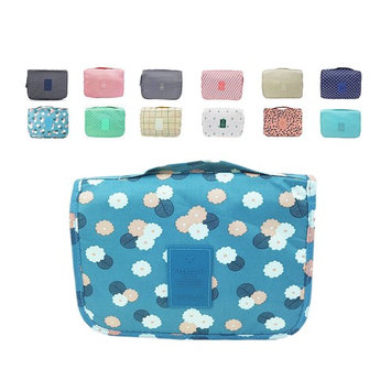 ZM Waterproof Haning Travel Kit for Women & Men Shaving, Portable Foldable Multifunction Cosmetic bag Makeup Pouch with Hanging Hook & Velcro, Bathroom Wash Bag 12 colors