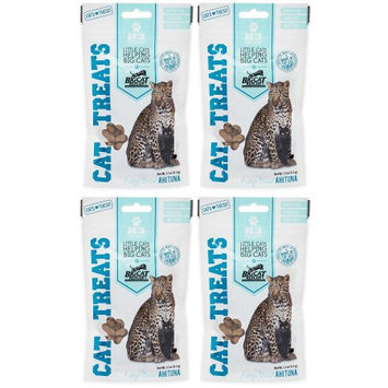H3 Essentials Big Cat Rescue Freeze Dried Ahi Tuna Treats for Cats, 4 Pack of 1.1 oz packages