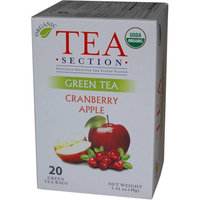 Tea Section Cranberry Apple Organic Green Tea 20 Bags - Case of 6