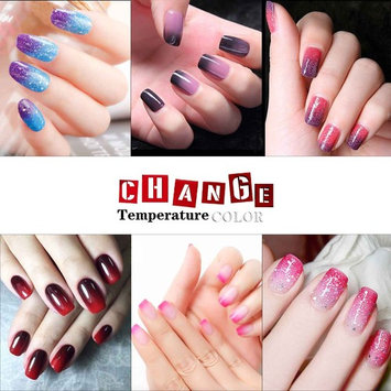 Gellen UV LED Temperature Color Changing Chameleon Gel Nail Polish 6 Colors 10ml Set - Sparkle Edition