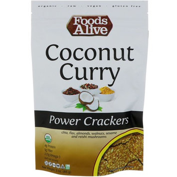 Foods Alive, Power Crackers, Coconut Curry, 3 oz (85 g) [Flavor : Coconut Curry]