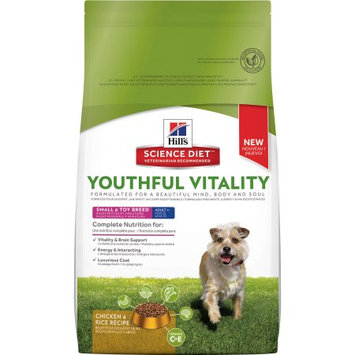 Hills Hill's Science Diet Youthful Vitality Adult 7+ Small & Toy Breed Chicken & Rice Recipe Dog Food, 3.5 lbs.