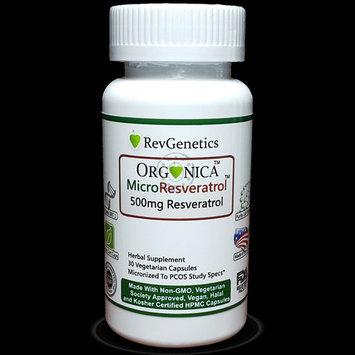 ORGONICA Resveratrol 500mg - MicroResveratrol - Using EU Organic Resveratrol In Vegan Certified Capsules