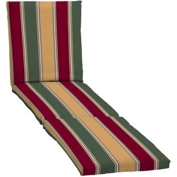 Arden Companies Mainstays Chaise Outdoor Cushion, Red/Green/Tan Stripe