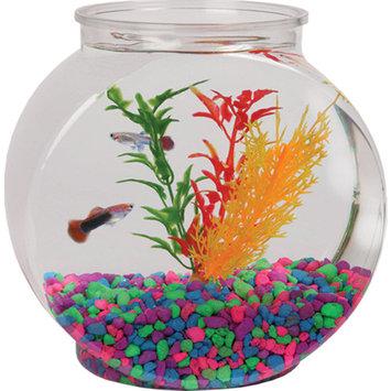 Hawkeye 1-Gallon Drum Fish Bowl, Shatterproof Plastic, 8.5