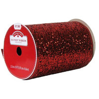 Anhui Ka-land Arts And Crafts Co Ltd HOLIDAY TIME RED RIBBON, 5.5 INCH X 35 FOOT