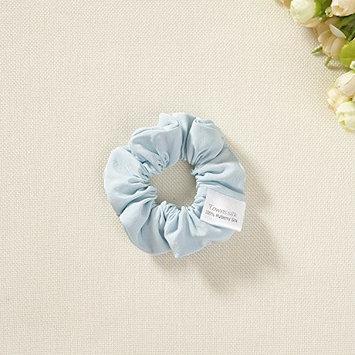 silk hair scrunchies set of 2 blue crepe de chine