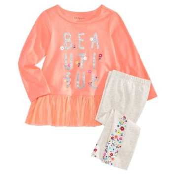 Baby Girls Graphic-Print Top & Floral-Print Leggings, Created for Macy's