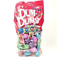 Rainbow Dum Dums Color Party - Assorted Flavors - 75 Count Bag - 12.8 ounces - Includes Free How To Build a Candy Buffet Guide [Rainbow - Assorted]