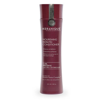 Keranique Curl Preserve Conditioner for Curly Hair, Textured Hair – Keratin Amino Complex, Sulfate Free, Paraben Free, Dye Free, 8 fl oz.