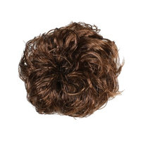 Lady Synthetic Fiber Hairpiece PonyTail Hair Wig Bud Bun Scrunchie Coffice Color