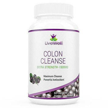 Livewell Labs 100% Natural Colon Cleanse. Proven Formula with Powerful Antioxidants. Detox, Energize, and Cleanse! 100% Risk-Free One Year Guarantee []