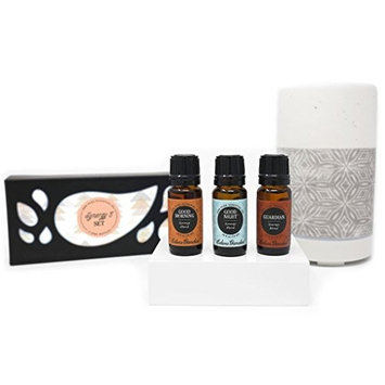 Edens Garden Synergy Blends, Gray Ombre Diffuser, Good Morning, Good Night, Guardian, Set of 3