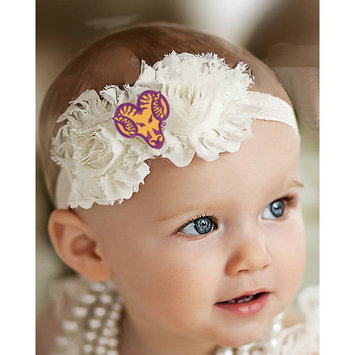 West Chester PA Golden Rams Baby/ Toddler Shabby Flower Hair Bow Headband