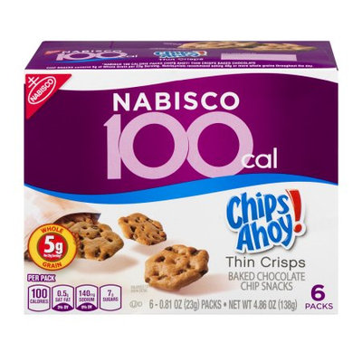 Nabisco Food Group Nabisco 100 Calorie Chips Ahoy Chocolate Chip Cookie, 6/Box