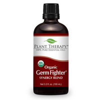 Plant Therapy Germ Fighter Organic Synergy 100 mL (3.3 fl. oz.) 100% Pure, Undiluted, Therapeutic Grade