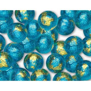 Madelaine Solid Premium Milk Chocolate World Globe Balls (1/2 LB)