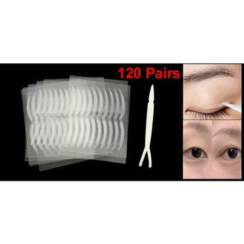 uxcell Ladies Makeup Beauty Tool Double Plastic Stick Eyelid Stickers 120 Pairs