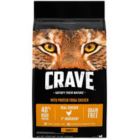 Mars Petcare Crave Grain Free Dry Cat Food with Protein From Chicken Bag, 10 lb
