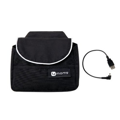 4moms Origami Handlebar Bag Plus Cell Phone Cable, Black