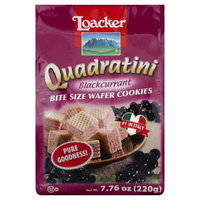 LOACKER Quadratini Bite Size Wafer Cookies Blackcurrant Flavor 220g