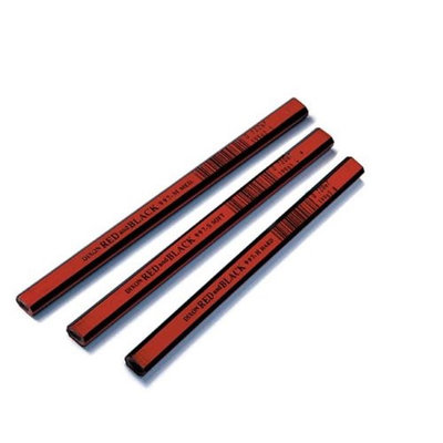 Dixon Ticonderoga 19973 Carpenter Pencil, Red and Black (12 Pack)