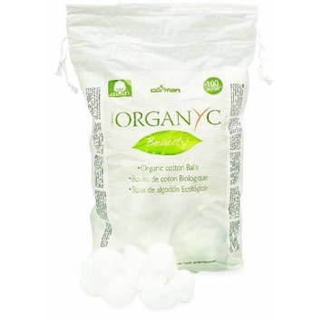 Organyc 100% Organic Cotton Balls for Sensitive Skin, 100 Count