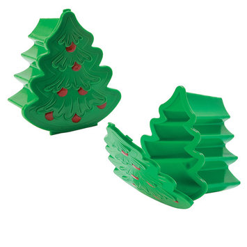 Christmas Tree Plastic Containers for Christmas - Party Supplies - Containers & Boxes - Plastic Containers - Christmas - 12 Pieces