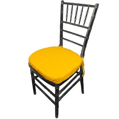LA Linen PopChiavaryPadCover-Pk4-YellowDrkP47 Polyester Poplin Chiavary Chair Cushion Cover Yellow Dark - Pack of 4