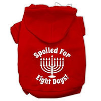 Mirage Pet Products Spoiled for 8 Days Screenprint Dog Pet Hoodies Red Size XL (16)