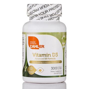 Zahler - Vitamin D3 3000 IU - 250 Softgels