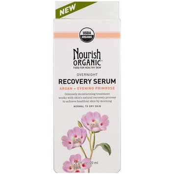 Nourish Organic, Overnight, Recovery Serum, Argan + Evening Primrose, 0.7 oz (20 ml)