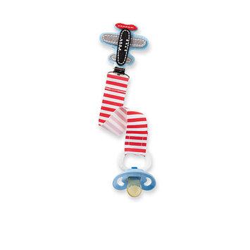Mud Pie® Stripe Airplane Pacifier Clip