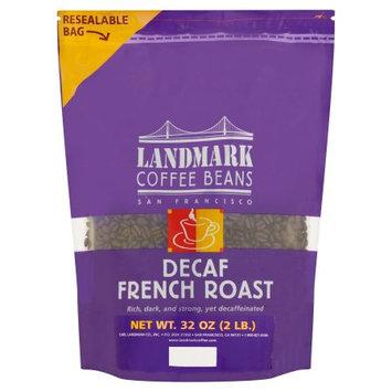 Landmark Lighting Landmark Coffee Decaf French Roast Coffee Beans, 32 oz