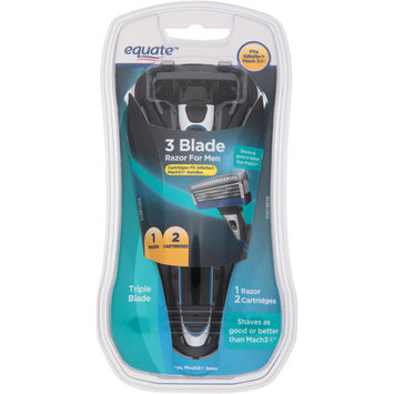 Equate Men's 3-Blade Razor with 2 Replacement Cartridges