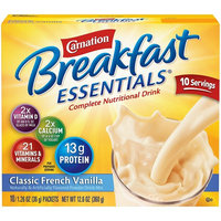 Carnation Breakfast Essentials Instant Breakfast Classic French Vanilla 10ct 2 pack