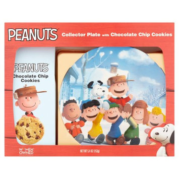 Maud Borup Inc Peanuts Collector Plate with Chocolate Chip Cookies, 5.4 oz
